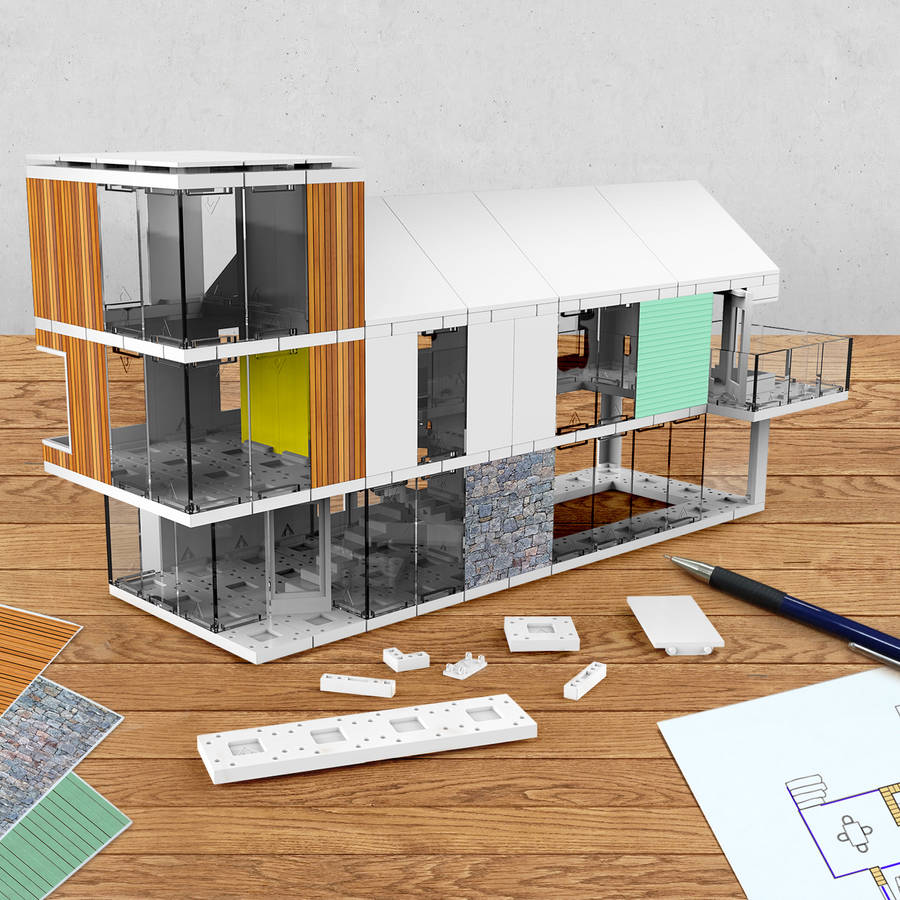 Picture Book Illustration Making An Architectural Model: Arckit Architectural Modelling Kits
