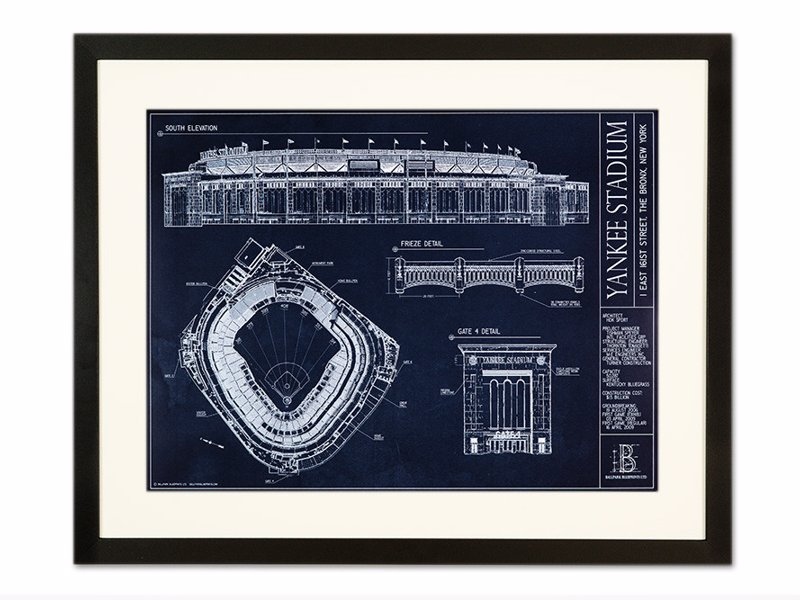 Mlb ballpark blueprints expertly chosen gifts mlb ballpark blueprints fascinating blueprint artwork capturing the architectural detail of baseball stadiums available malvernweather Image collections