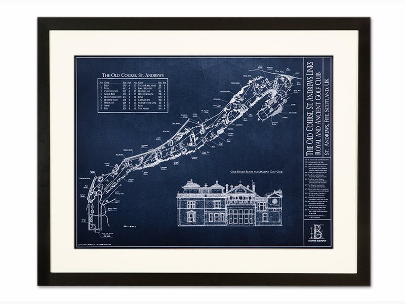 Golf Course Blueprint Artwork | Expertly Chosen Gifts