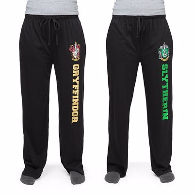 Harry Potter House Lounge Pants - Casual lounge pants featuring Hogwarts house logos and names