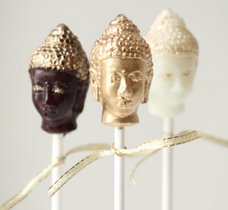 Golden Buddah Head Lollipops - A sweet little gift for a yoga enthusiast!