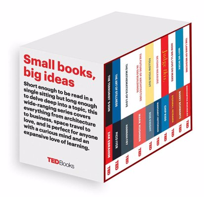 TED Books Box Set: The Completist - Long enough to explore a powerful idea but short enough to read in a single sitting, TED Books pick up where TED Talks leave off