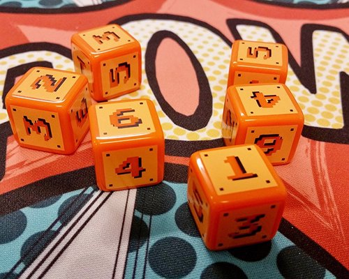 8-Bit Dice - Cool retro gaming dice in three designs