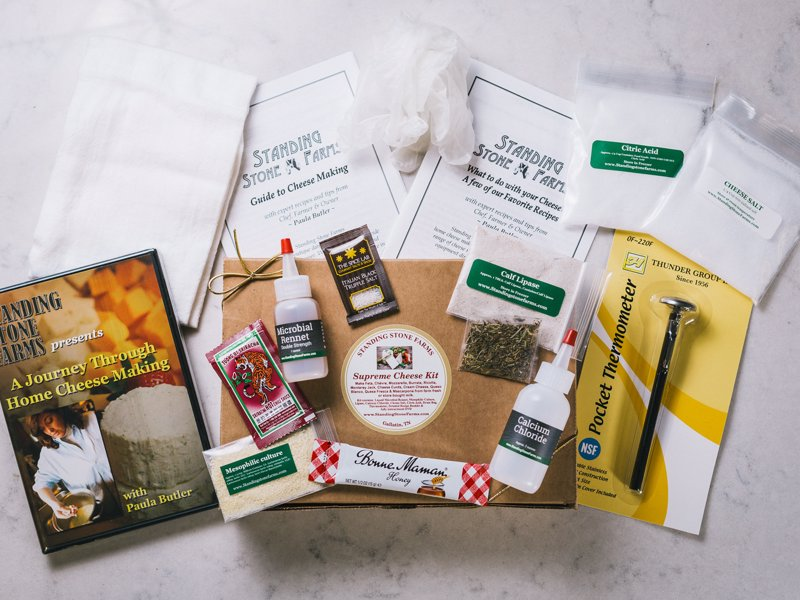 Standing Stone Cheese Making Kits - Get started with cheese making with this range of starter kits that teach you how to make cheeses like Mozzarella, Ricotta and Marscapone