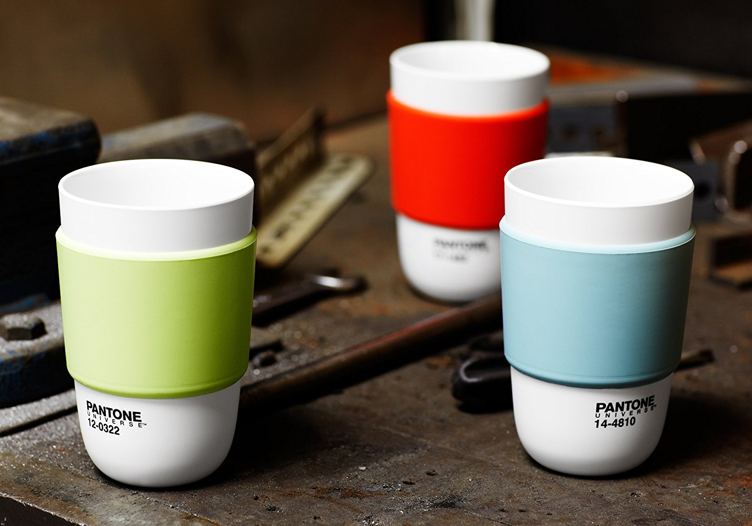 Pantone Color Cup with Silicone Band - Minimalist cups inspired by the colors of the Pantone & Pantone Color Cup with Silicone Band | Expertly Chosen Gifts