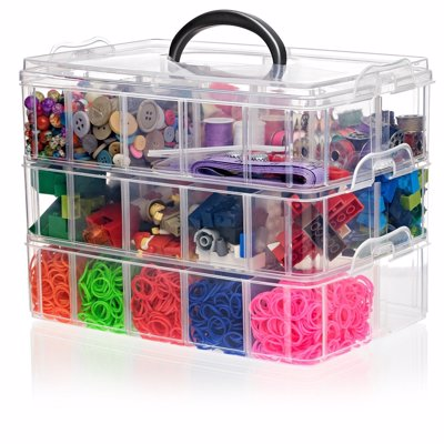 Snapcube Stackable Arts & Crafts Organizer - Versatile storage case to keep all your arts and crafting supplies organized