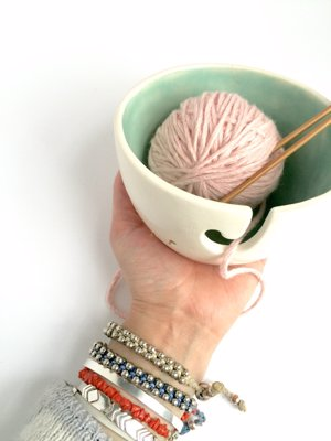 Minimalist Yarn Bowls by MuddyHeart - An attractive collection of handmade yarn bowls