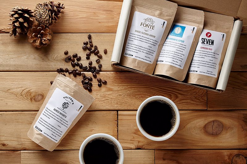 Bean Box Gourmet Coffee Sampler - A gift box selection of four gourmet coffees from Seattle's top small-batch roasters