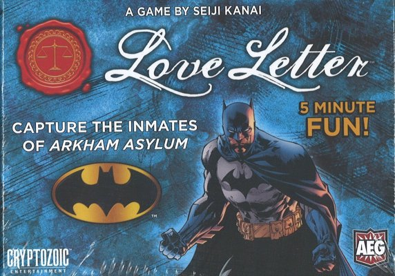 Love Letter Batman Edition Card Game - Quick and simple card game based on the award-winning Love Letter game, but with a Batman theme and amazing comic book artwork
