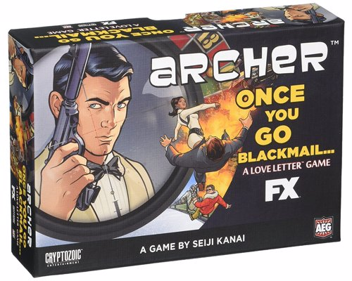 Archer: Once You Go Blackmail - Quick playing card game for Archer fans based on the award winning Love Letter game by Seiji Kanai