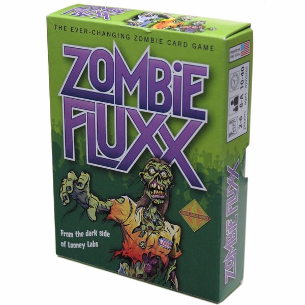 Zombie Fluxx - Zombie themed edition of the card game where the rules change as you play, a short fun game filled with horror and humor