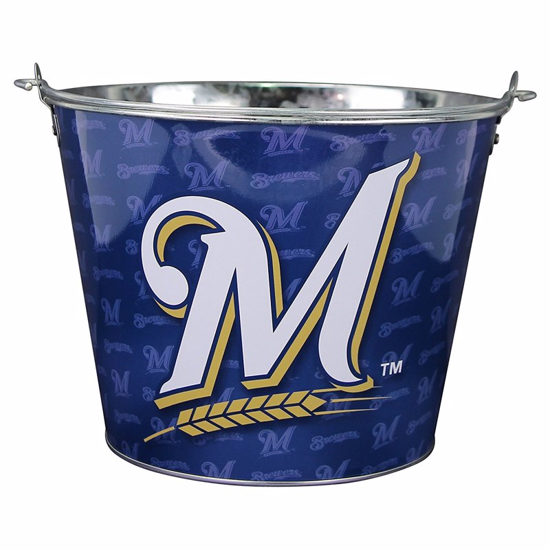 MLB Team Beer Bucket - These beer buckets hold six beers with ice, but also work well as a gift basket for a sports fan