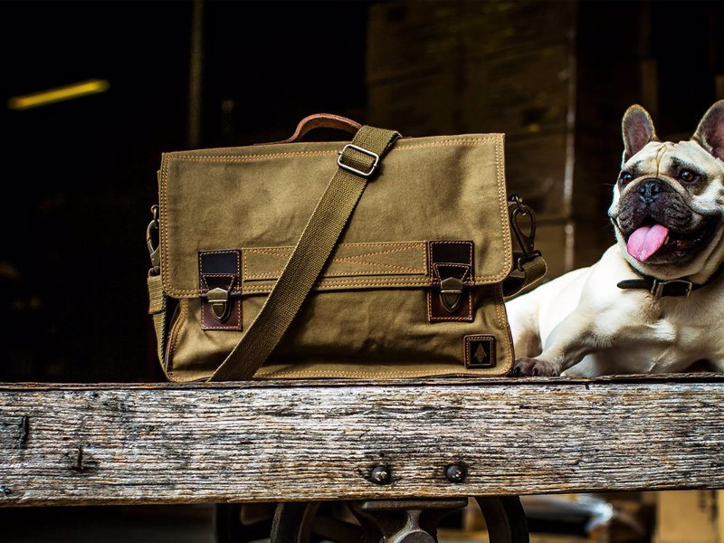 DamnDog Work Bag - Look damn cool on your way into the office with the DamnDog briefcase style Work Bag