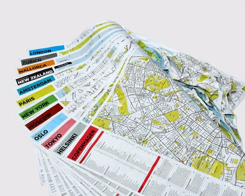Crumpled City Maps - Waterproof and rip resistant city maps you can simply scrunch up and pop in your pocket