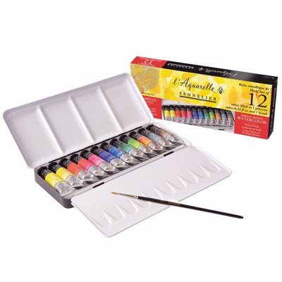 Sennelier Watercolor Set - A collection of high quality watercolor paints inspired by the bright and lively palette of Southern France