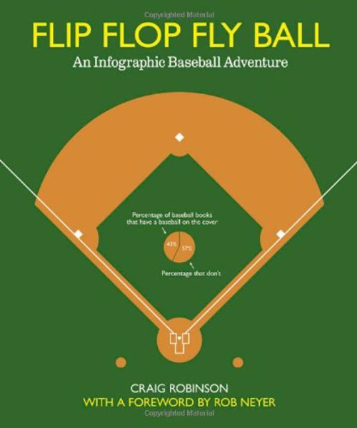 Flip Flop Fly Ball: An Infographic Baseball Adventure - Flip Flop Fly Ball dives into the baseball's history, its rivalries and absurdities, its cities and ballparks, and brings them to life through 120 full-color graphics