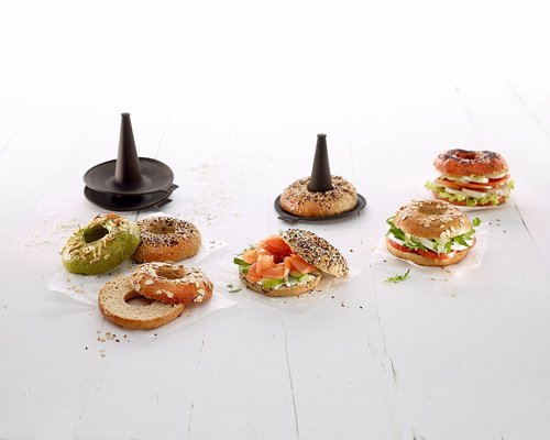 Lekue Bagel Maker with 6 Silicone Bagel Molds