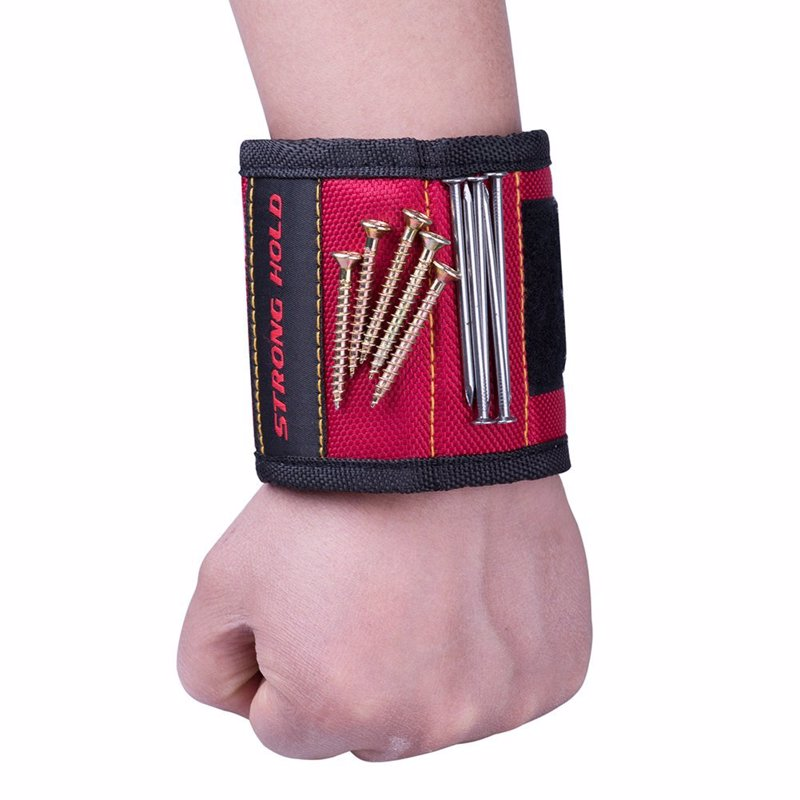 Magnetic Wristband - Holds Small Metal Tools, Screws, Nails, Bolts Tightly While Working