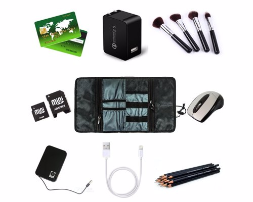 ProCase Travel Electronics Gear Organizer - Keep all your cables, SD cards, chargers, and other small items organized when you travel