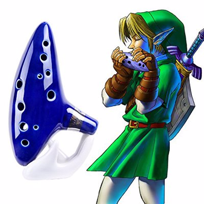 Legend of Zelda Ocarina - Channel your inner Zelda with this beautiful 12-Hole Ceramic Ocarina instrument