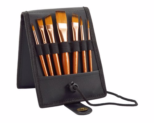 Travel Paint Brush Set - For acrylic, oil, watercolor & gouache painting