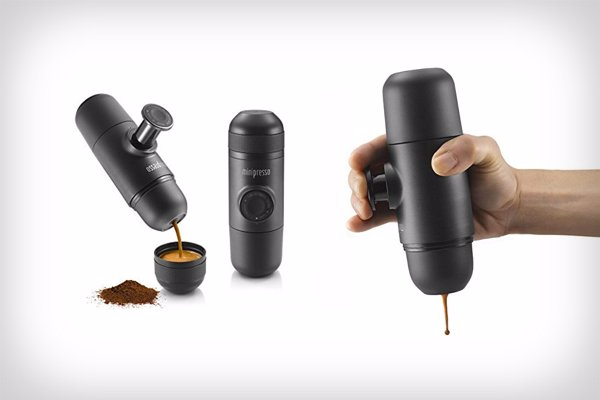 MiniPresso GR Espresso Maker - Make a genuine espresso on the go, without compressed air or N2O cartridges