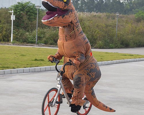 Inflatable T-Rex Costume - Wow the crowd in this officially licensed Jurassic world t-rex inflatable costume