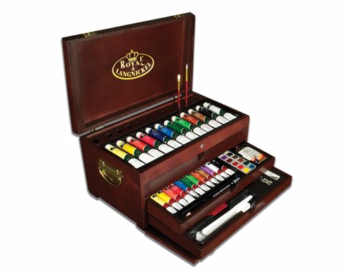 Painting Materials Art Set - A treasure chest for beginners, students and hobbyists