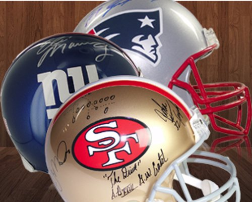 Signed Football Memorabilia - Footballs, helmets, jerseys, and photographs signed by your favourite player