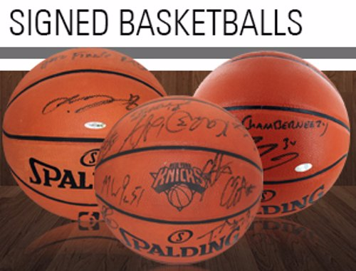 Signed Basketball Memorabilia - Basketballs, sneakers, floor pieces, jerseys, and photographs signed by your favourite players