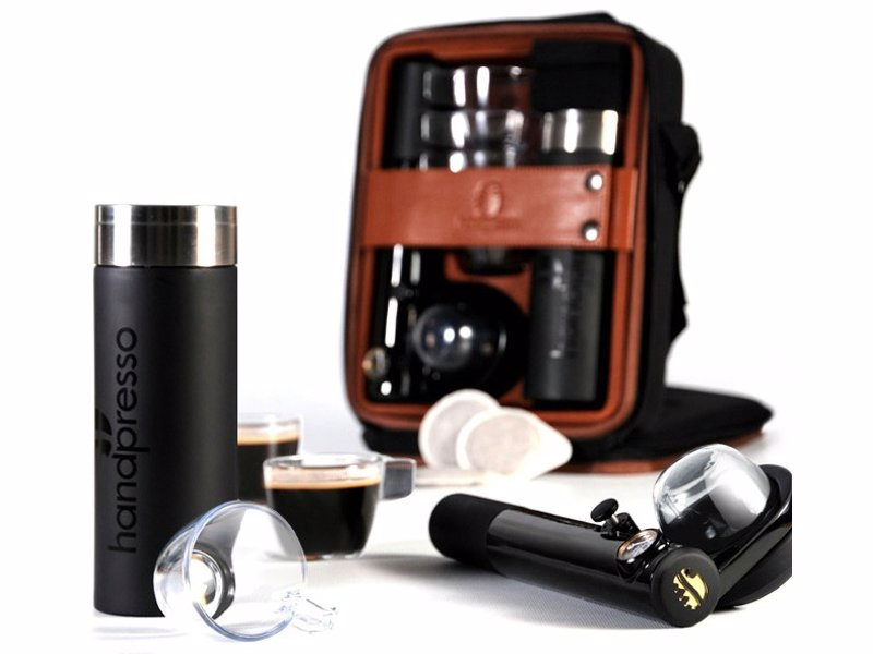 Handpresso Travel Espresso Set - Have an espresso to hand wherever you go with this good looking set