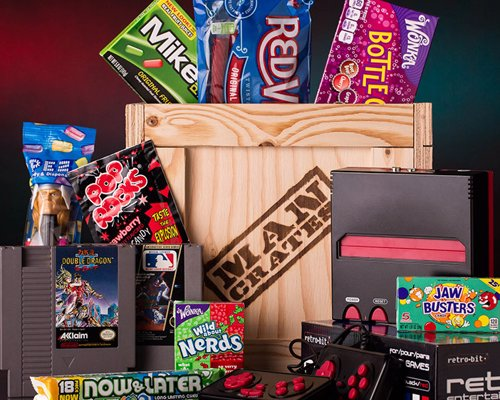 Retro Gamer Crate - The most awesome assortment of retro candy and video games in a single wooden crate