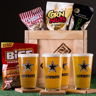 NFL Barware Gift Crate - Barware and game day snacks for the team of your choice