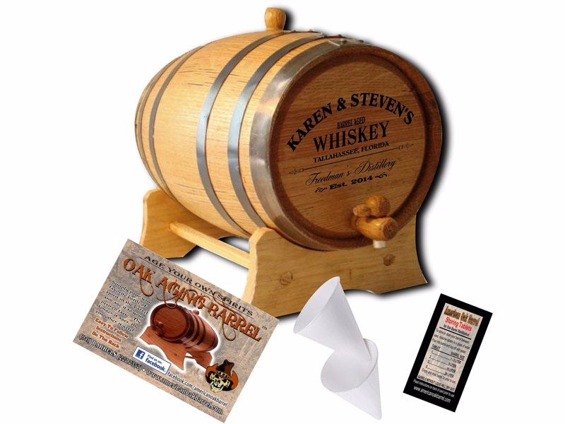 Personalized American Oak Aging Barrel - Age your own whiskey at home