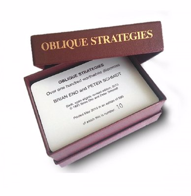 Brian Eno's Oblique Strategies