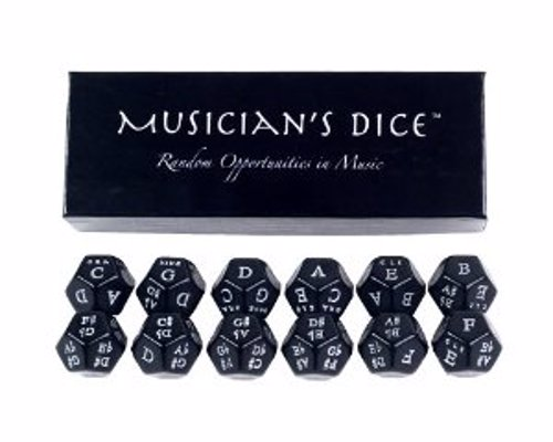 Musician's Dice - Creative tool great for composition ideas, improvisation, and study