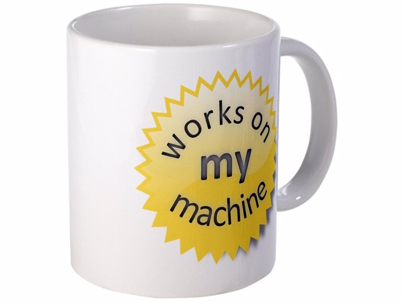 Works On My Machine Mug - Proudly display the official WOMM certification logo and let everyone know how thoroughly you test
