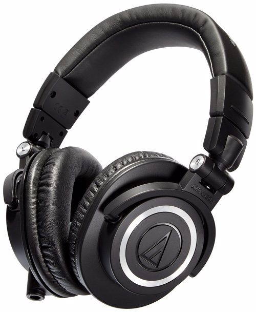Audio-Technica ATH-M50x Professional Studio Monitor Headphones - Headphones perfect for use in the studio