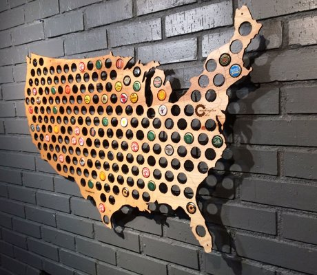 USA Beer Cap Map - Complete the USA, one local brew at a time