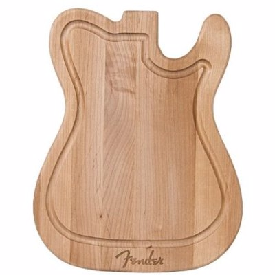Fender Guitar Body Cutting Board - Practice your chops in the kitchen with these Fender guitar body cutting boards