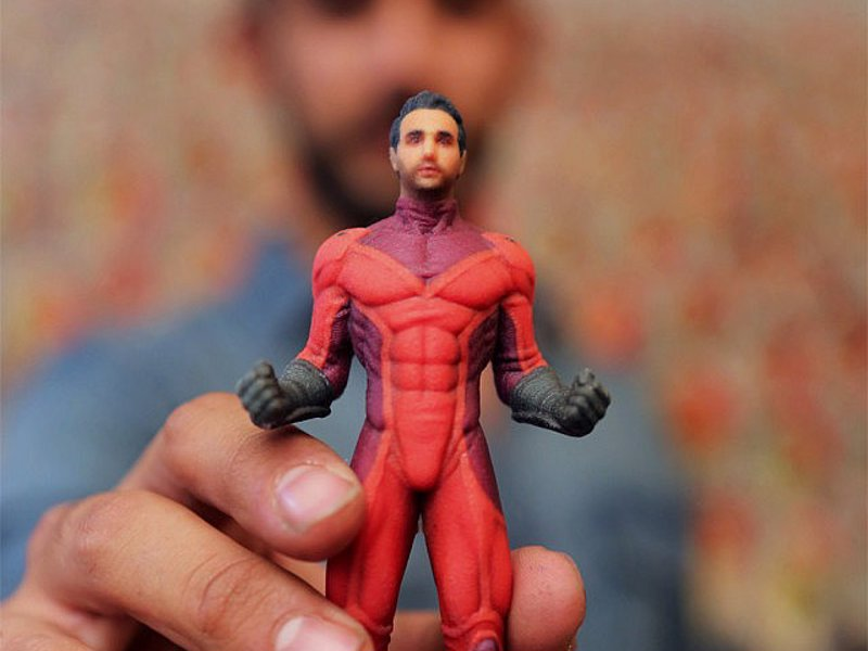 Personalized Superhero Figurine - Transform yourself or someone else into a legendary crime fighter with these personalized superhero figurines.