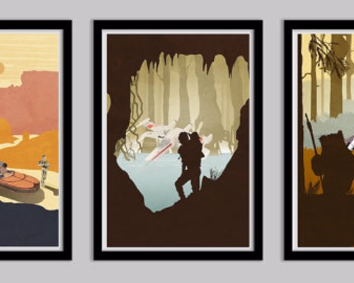 Star Wars Trilogy Art Prints - The Original Trilogy CUSTOM Poster Collection!