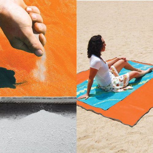 Sandless Beach Mat - However hard you try, you simply cannot cover the Sandless Beach Mat with sand