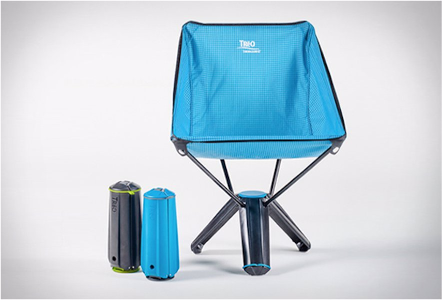 Foldable Camping Chair - Folds down into its own base, perfect for camping trips and festivals