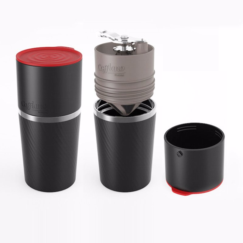 Portable All-in-One Coffee Brewing System - This stunning coffee maker comes complete with a water pourer, grinder, built-in filter and insulated mug