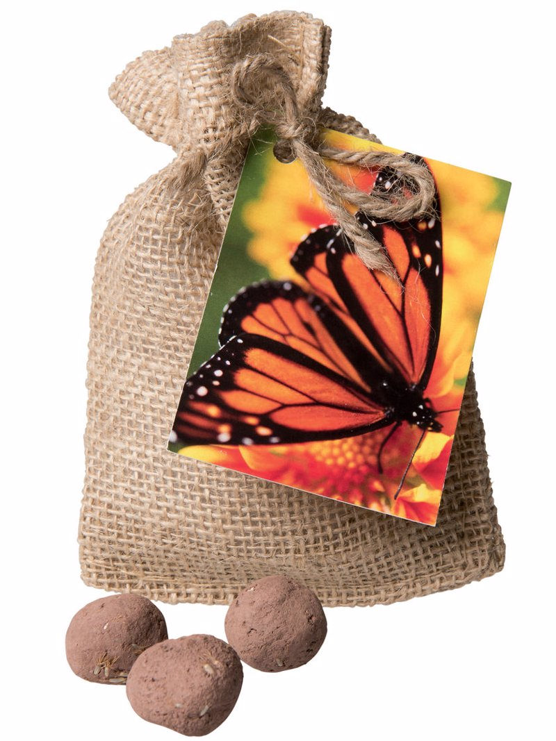 Monarch Butterfly Seed Balls - Support monarch butterflies - if you can throw, you can grow!
