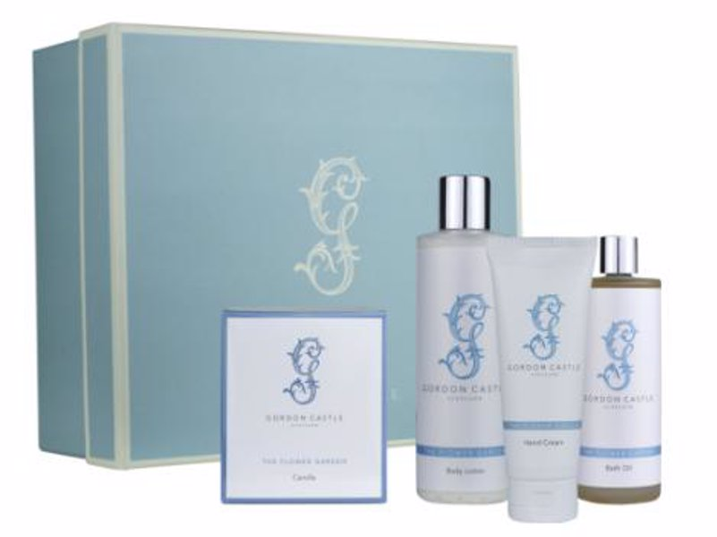 Flower Garden Relaxation Set - Gift set of luxurious body lotion, hand cream, bath oil, all natural and eco-friendly