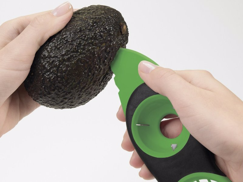 3-in-1 Avocado Slicer - Split, pit, slice and scoop avocados safely and effectively with the oxo good grips 3-in-1 avocado tool