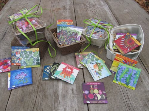 Hudson Valley Seed Art Packs - Heirloom and open-pollinated seed packs with unique artwork