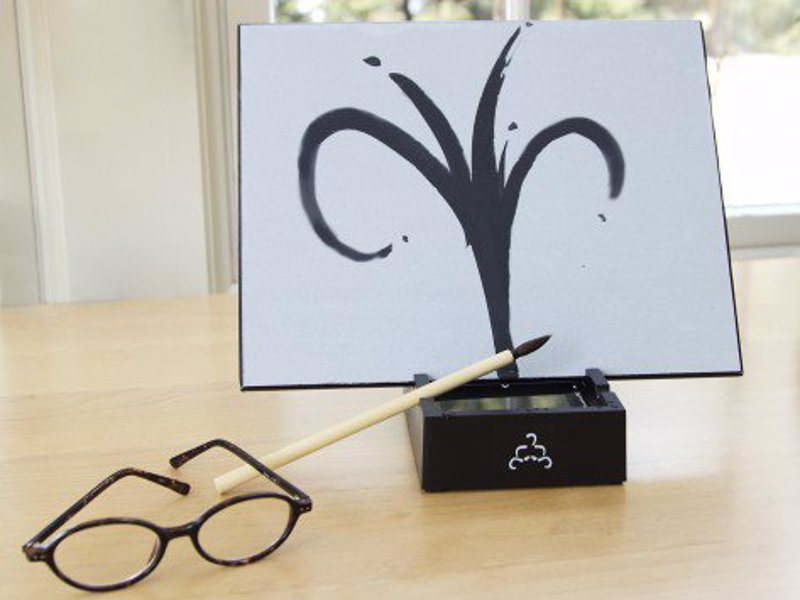 Buddha Board - The Temporary Drawing Board - Like an Etch-a-Sketch that you paint with water, as the water dries the image fades, ready for your next creation